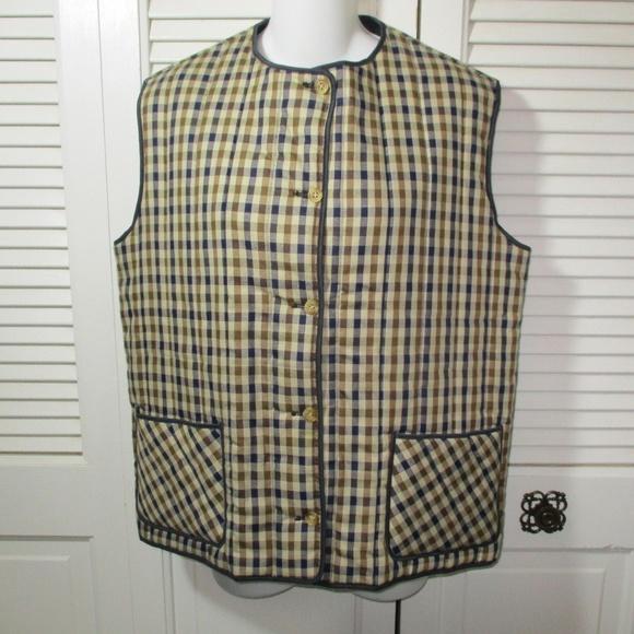 aquascutum Jackets & Blazers - Aquascutum Check & Navy Blue Reversible Vest 14